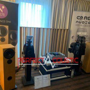 Core Audio hifi show, presentazione dell'assorbitore acustico