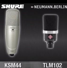 Microfoni Shure ou Neumann