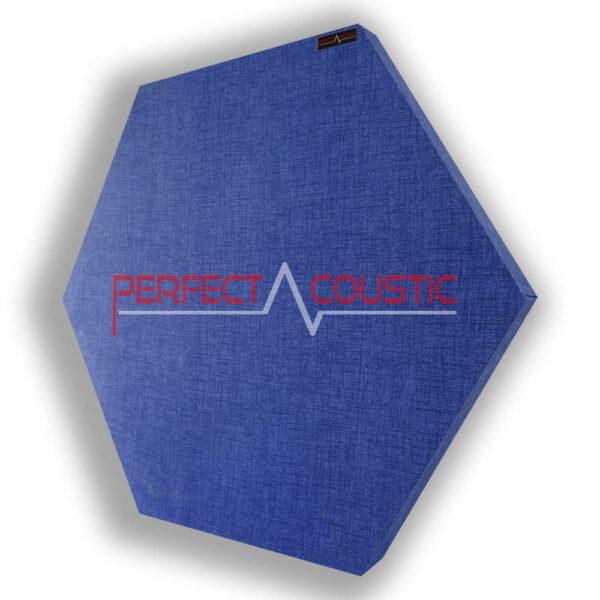 Pannello acustico esagonale fantasia blu