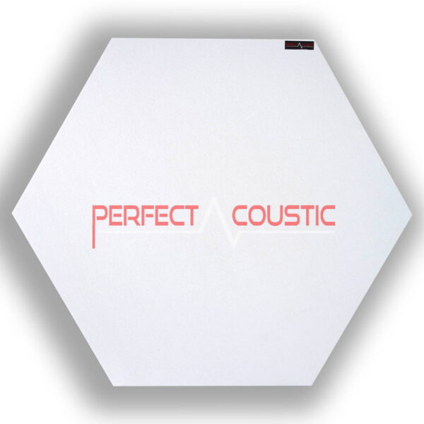 Pannello acustico esagonale modellato bianco