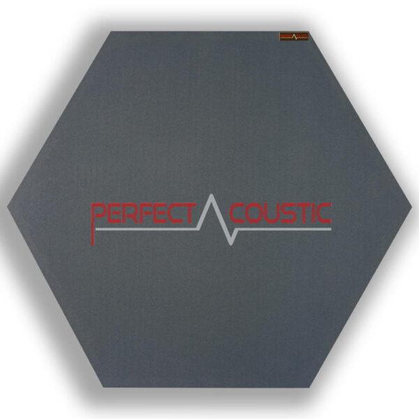 Pannello acustico esagonale modellato grigio 1.