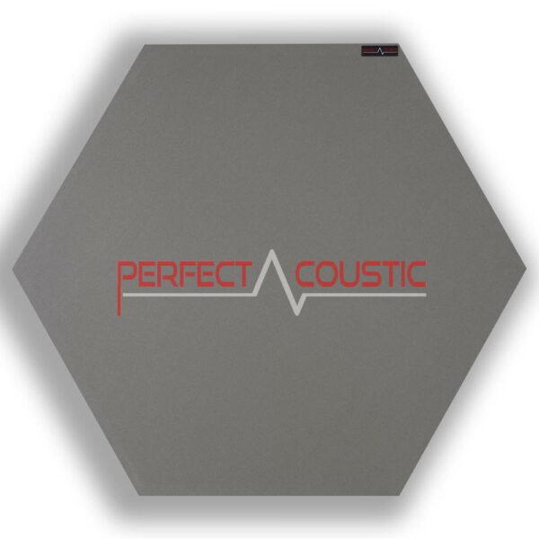 Pannello acustico esagonale modellato grigio 2.