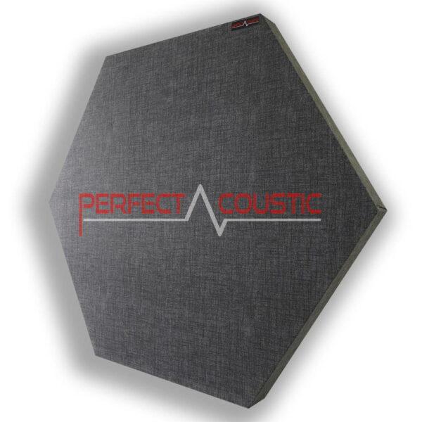 Pannello acustico esagonale modellato grigio