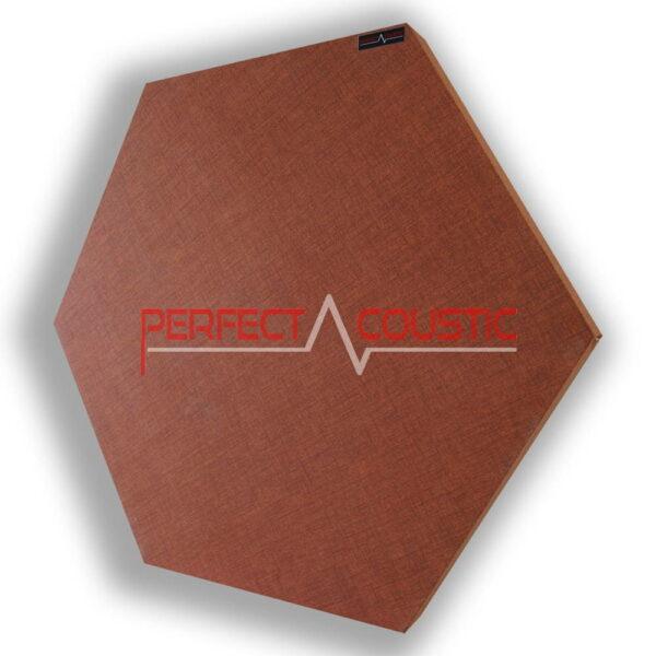 Pannello acustico esagonale modellato marrone