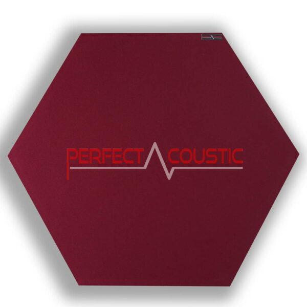 Pannello acustico esagonale modellato rosso