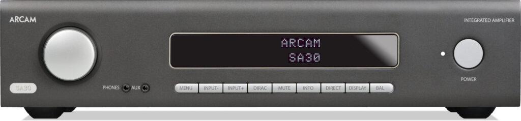 Pannello frontale dell'amplificatore Arcam SA30