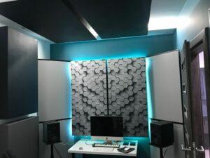 Perfect Acoustic pannello fonoassorbente in un piccolo studio di casa (2)