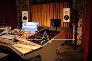 acustica da studio, misura acustica-Tessuto acustico (seta)