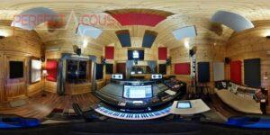 acustica da studio con elementi fonoassorbenti
