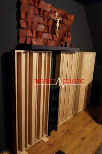 design acustico della stanza con diffusore acustico