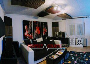 design acustico per home theater con assorbitore di bassi
