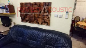 design acustico per home theater con diffusore acustico rustico (2)