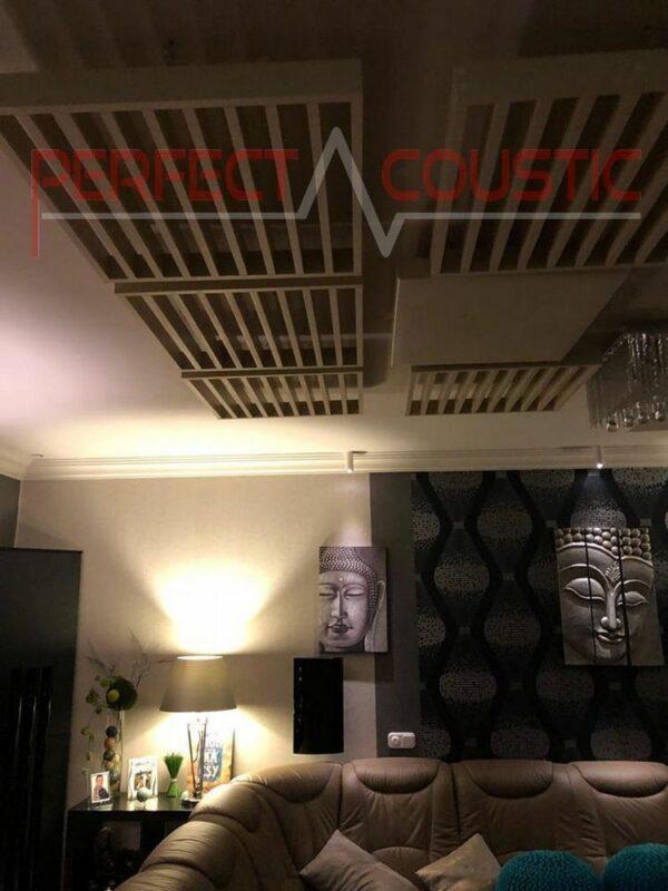 design acustico per home theater con diffusore pannello frontale acustico
