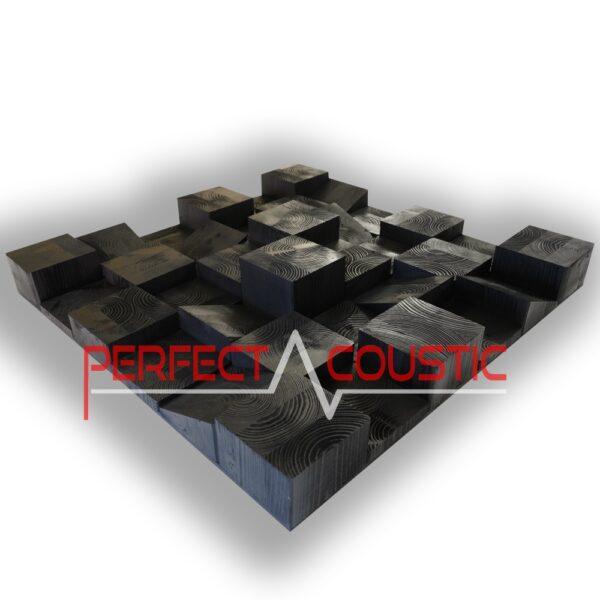 diffusore a cubo in legno in swartz opaco