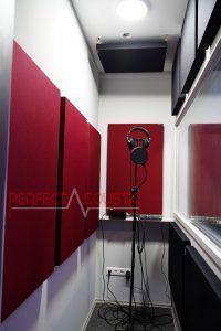 gestione acustica della sala di registrazione
