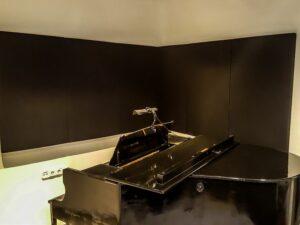 pannello acustico collocato nella stanza del piano (4)