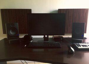 pannello acustico dello studio