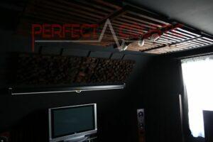 progettazione acustica della sala cinema con assorbitori acustici