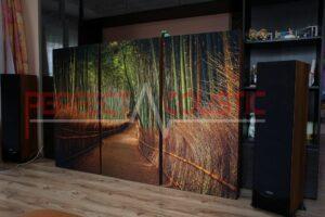 progettazione acustica della sala espositiva hifi con assorbitori acustici (4)