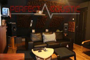 progettazione acustica della sala home theater con assorbitori acustici
