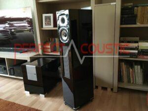 progettazione acustica della stanza con assorbitori acustici